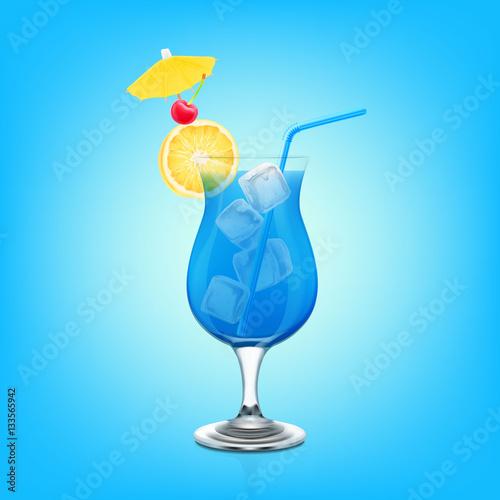Blue lagoon cocktail  blue lagoon cocktail - image | Adobe Stock