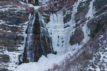 Fototapeta na wymiar waterfall, rocks, water, blurred water, motion