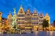 canvas print picture - Grote Markt in Antwerp, Belgium