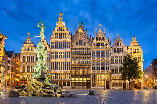 Foto op Plexiglas Antwerpen Grote Markt in Antwerp, Belgium