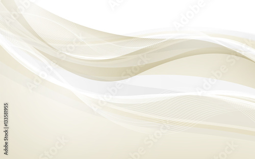 Abstract beige waves - data stream concept. Vector Canvas Print