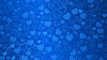 Background Of Hearts With Swirls