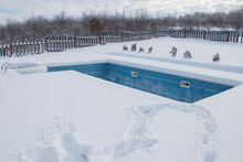 Ice Swimming Pool In The Winte...