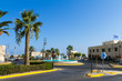 Fortress, water fountain, palm trees at famous Heraklion Venetia