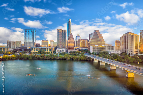 Canvas Prints American Famous Place Downtown Skyline of Austin, Texas