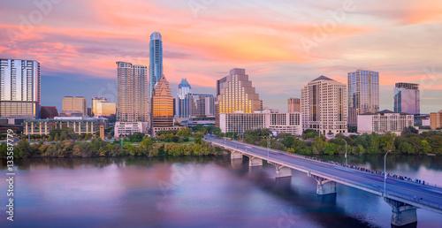 Poster Texas Downtown Skyline of Austin, Texas