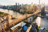 Fototapeta Nowy Jork - Queensboro Bridge over the East River in New York City