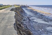 Coastal Erosion Of The Cliffs At Skipsea, Yorkshire