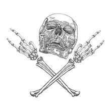 Skull And Crossbones Hands Wit...