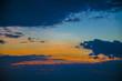 Stunning beautiful sunset in the Gulf of Thailand.