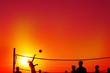 canvas print picture - Beach volleyball