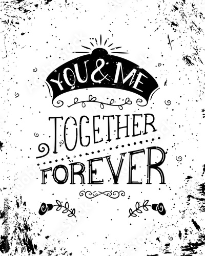 You And Me Together Forever Buy This Stock Vector And Explore