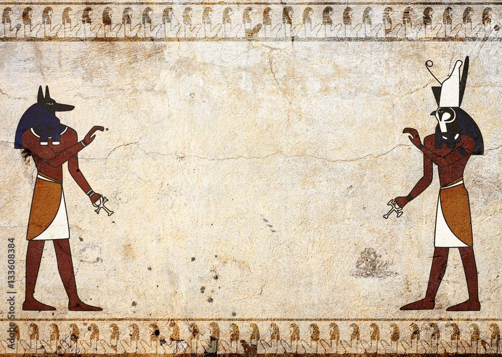 Fototapeta Anubis and Horus