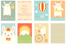 Set Of Vacation Travel Banners...