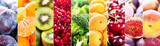 Fototapeta Fototapety do kuchni - collage of fresh fruits and vegetables