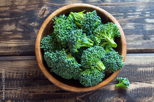 organic raw broccoli