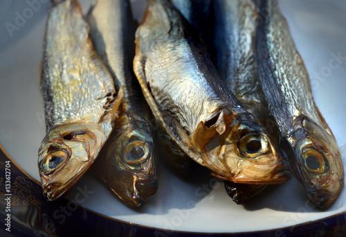 Valokuva  smoked fish on a plate