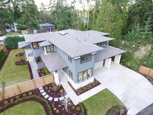 Fotografie, Obraz  Aerial view of new construction home