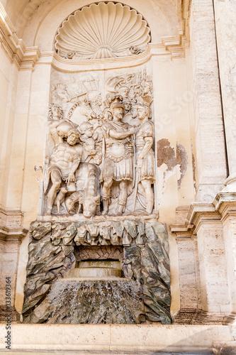 Rome Italy Detail Of Fountain Acqua Felice Moses Fountain