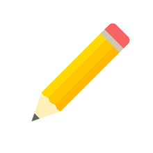 Pencil Icon Flat Design Vector Isolated