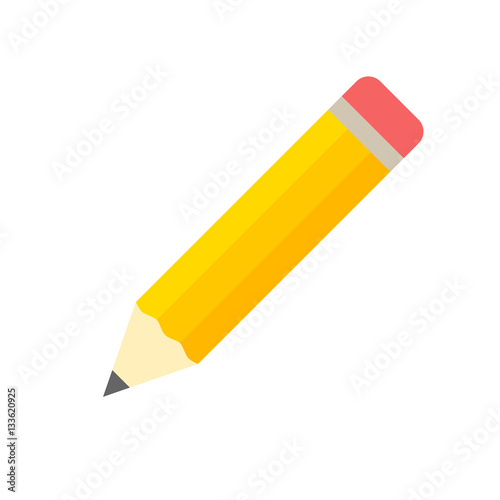 Pencil icon flat design vector isolated Fototapeta