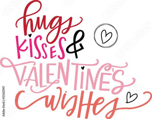 Fotografie, Obraz  Hugs, Kisses & Valentine's Wishes