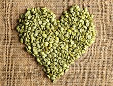 Heart Shape Of Coffee Grains On Sackcloth