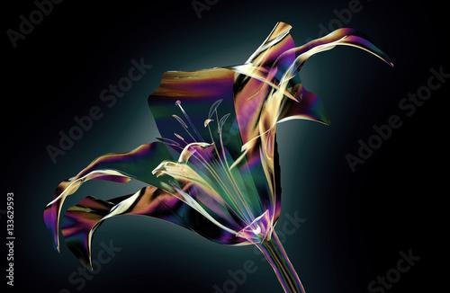 szklany-kwiat-z-teczowym-polyskiem-zludzenie-na-czarnym-tle