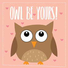 Owl Be Yours Valentine Design