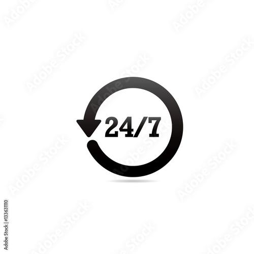 Fényképezés  24 Hour 7 Day Symbol