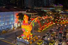Singapore Chinatown Chinese New Year 2017 Night Scene