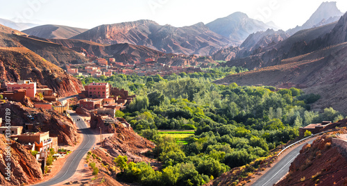 Papiers peints Maroc View of the city of Tamellalt in Atlas Mountains in Morocco