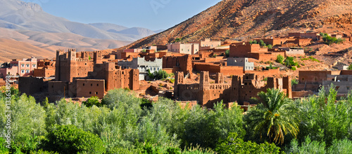 Old berber architecture near the city of Tamellalt, Morocco Wallpaper Mural