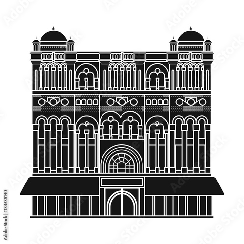 Fotografia Queen Victoria Building icon in black style isolated on white background