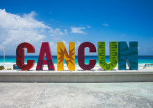 The Famous Cancun Sign In Mexico