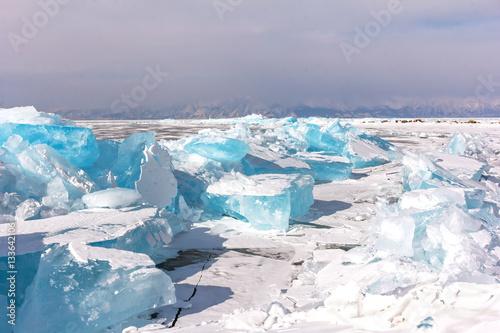 Poster Glaciers Winter Baikal