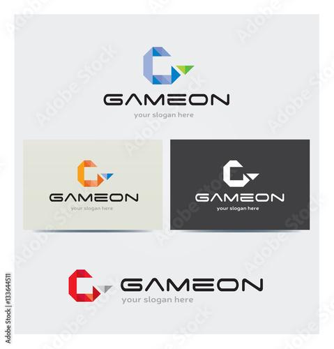 Logo Lettre G 3D Carte De Visite Et Charte Graphique Entreprise Plusieurs Couleurs