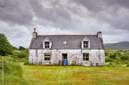 A derelict, abandoned property near Dunvegan on the Isle of