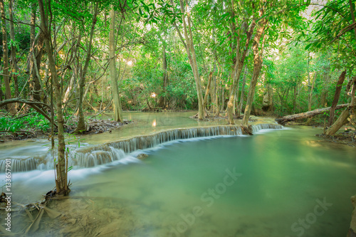 Fototapety, obrazy: Huay Mae Kamin Waterfall in the forest