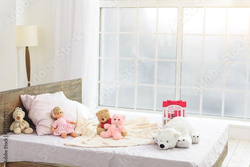 In de dag Retro Pretty toys for child in bedroom