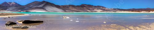 Fotobehang Lavendel Panorama Salar de Talar, Atacama Desert, Chile