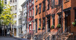 Old Buildings on Gay Street in New York City Panorama