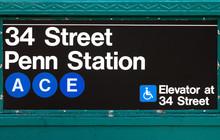 New York City Subway Sign Penn...