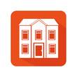 exterior cute house icon vector illustration design