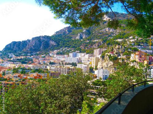 Fotografie, Obraz  Panoramic view of Monaco, Monte Carlo