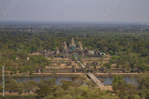 Fotografie, Obraz  Ariel View of Angkor Wat