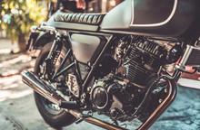 Motorcycle Engine In Vintage Style