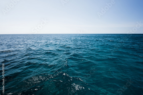 Foto op Plexiglas Zee / Oceaan Blue, Dark and deep open sea, The vast sea and ocean