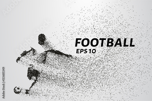 фотографія  Football of the particles carries in the wind