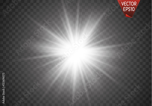 Fotografia, Obraz Vector illustration of abstract flare light rays